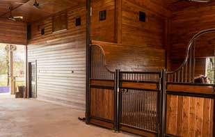 Tonuge and Groove Finished Barn Interior