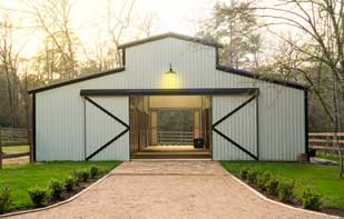 Custom Metal Barn Entry